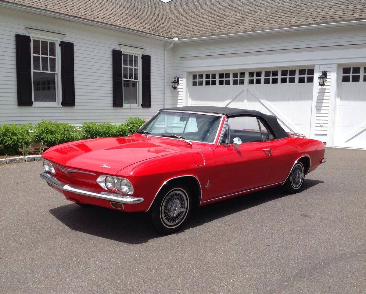1965 #Chevrolet #Corvair Monza looking great in red. Looks just like ...