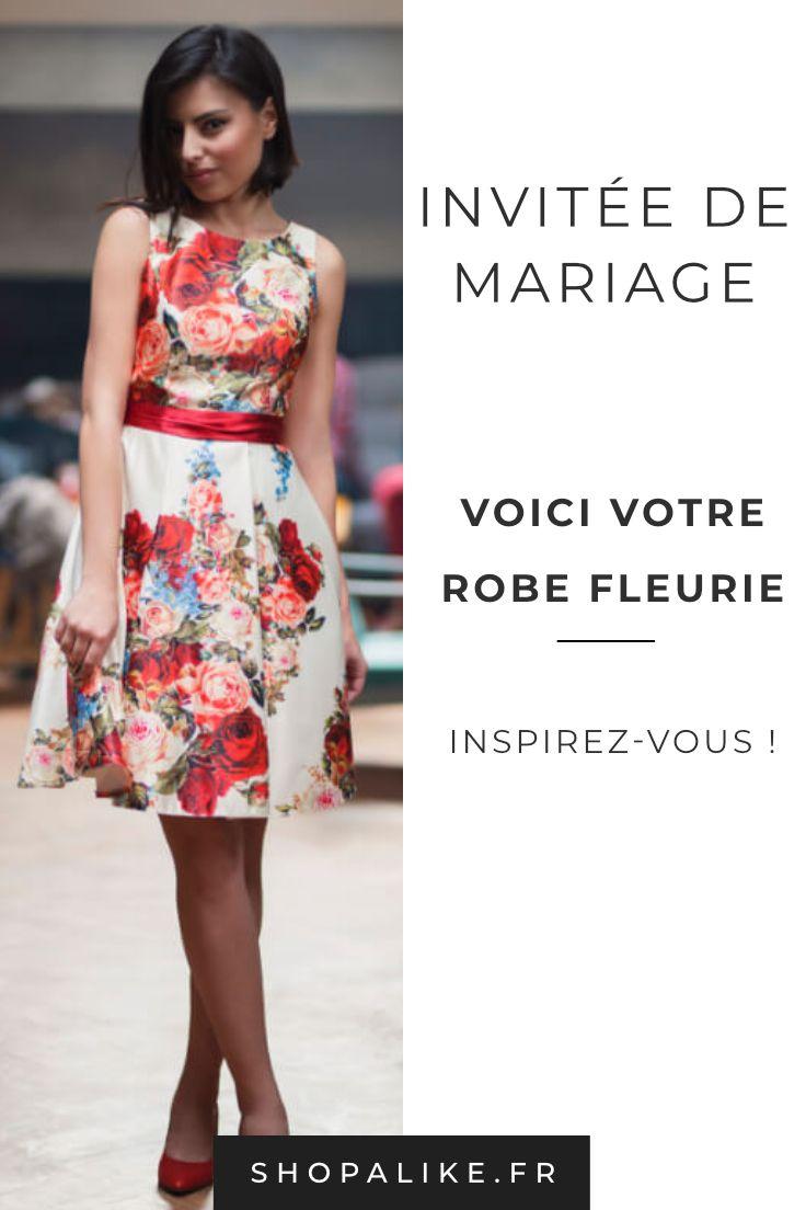 10097afb897 Invitée à un mariage   Optez pour la robe à fleurs qui apportera une touche  d
