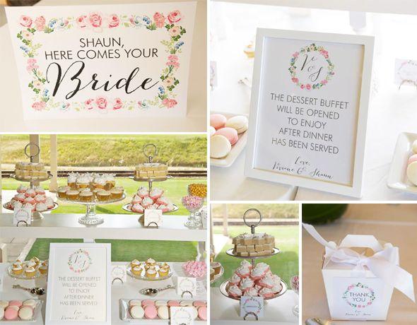 Fl Wreath Wedding Stationery Free Printable