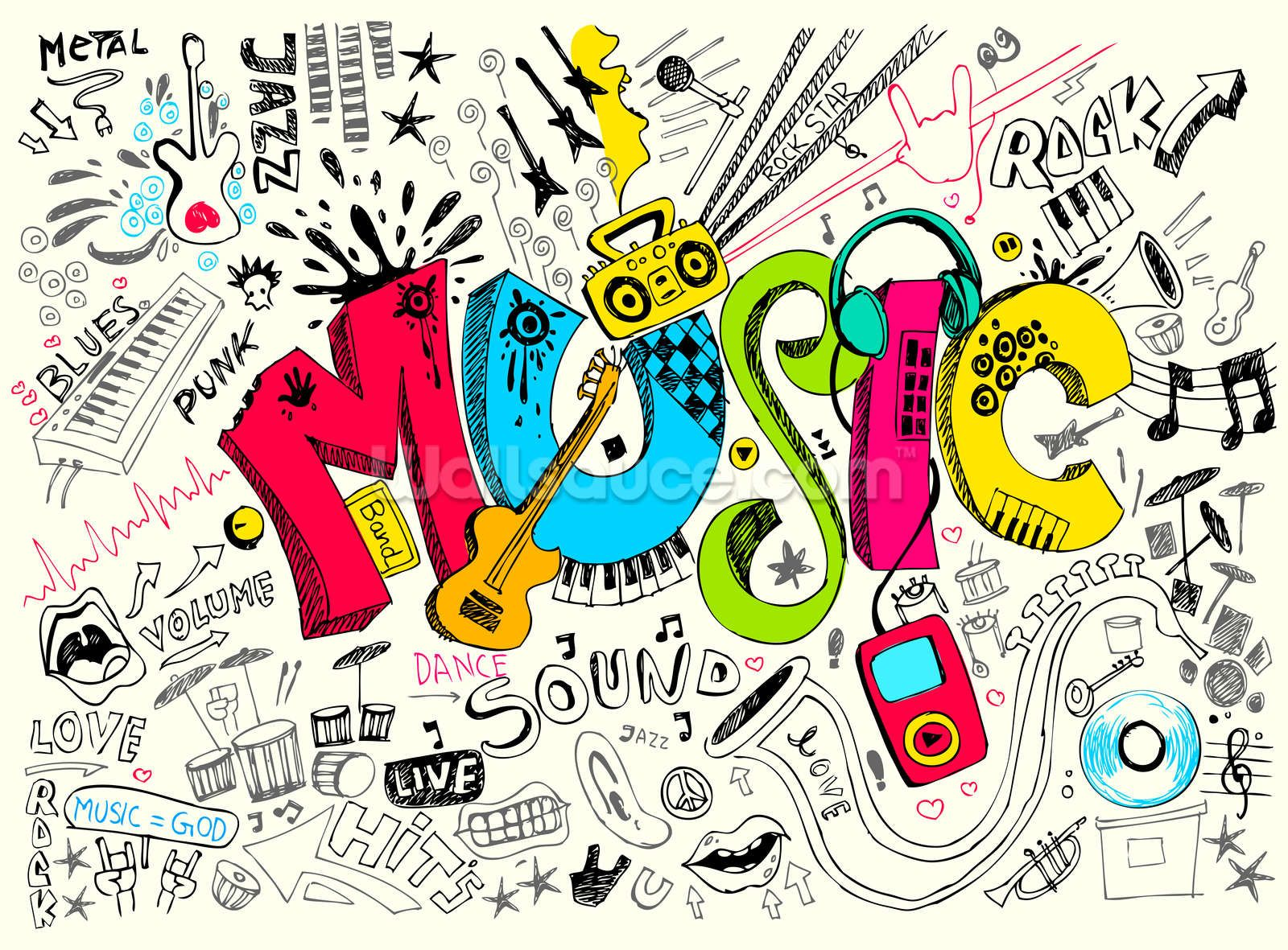 Music Doodle Art Wallpaper Hd