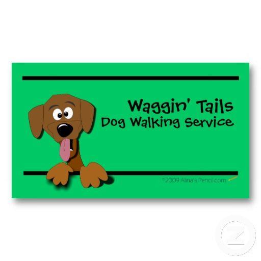 Cartoon Dog Business Card Template Green Zazzle Com Dog Business Cartoon Dog Dog Walking Business Cards