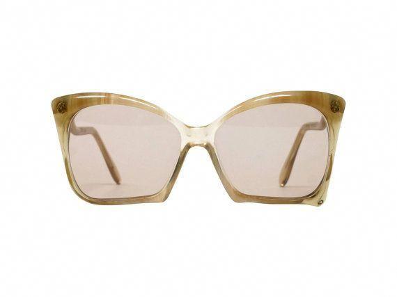 2145a9b085 Pierre Bernard Butterfly Sunglasses 70s French by EllaOsix   oversizedfashioneyeglasses