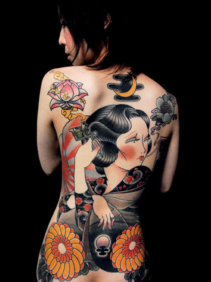 Japanese full body tattoo female