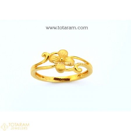 22K Gold Ring For Women 235 GR4313 Buy this Latest Indian Gold