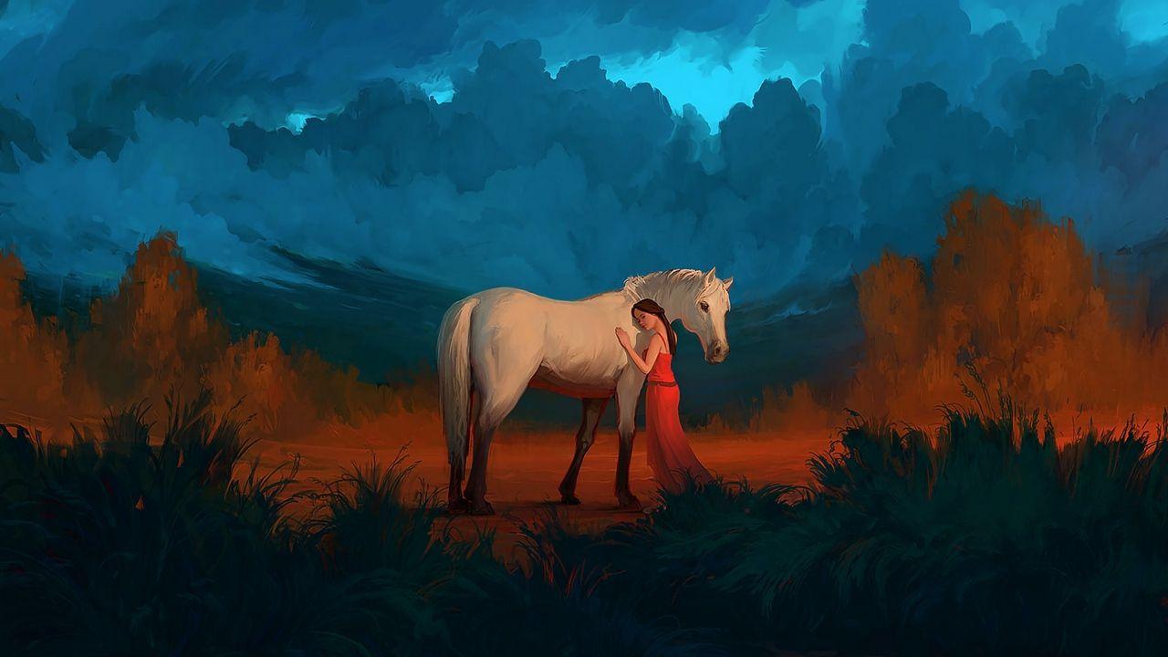 Horse wallpaper, Horse love, Girl horse art