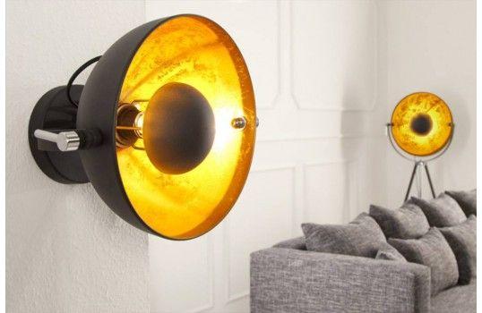 Applique design or et noir spino luminaires design