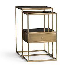 nightstands night stands night stand furniture pottery barn studio la bedside table. Black Bedroom Furniture Sets. Home Design Ideas