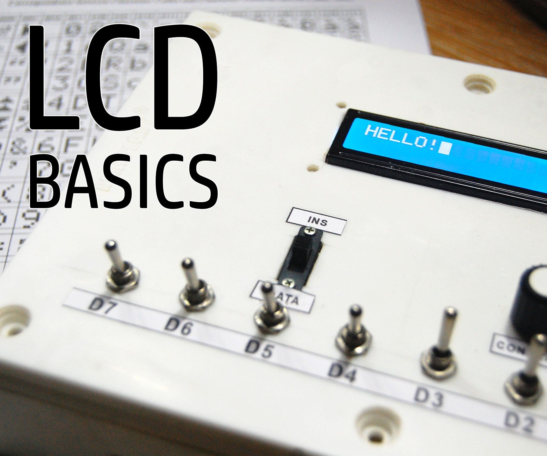 LCD Trainer Kit | Crafting | Arduino, Electronics projects