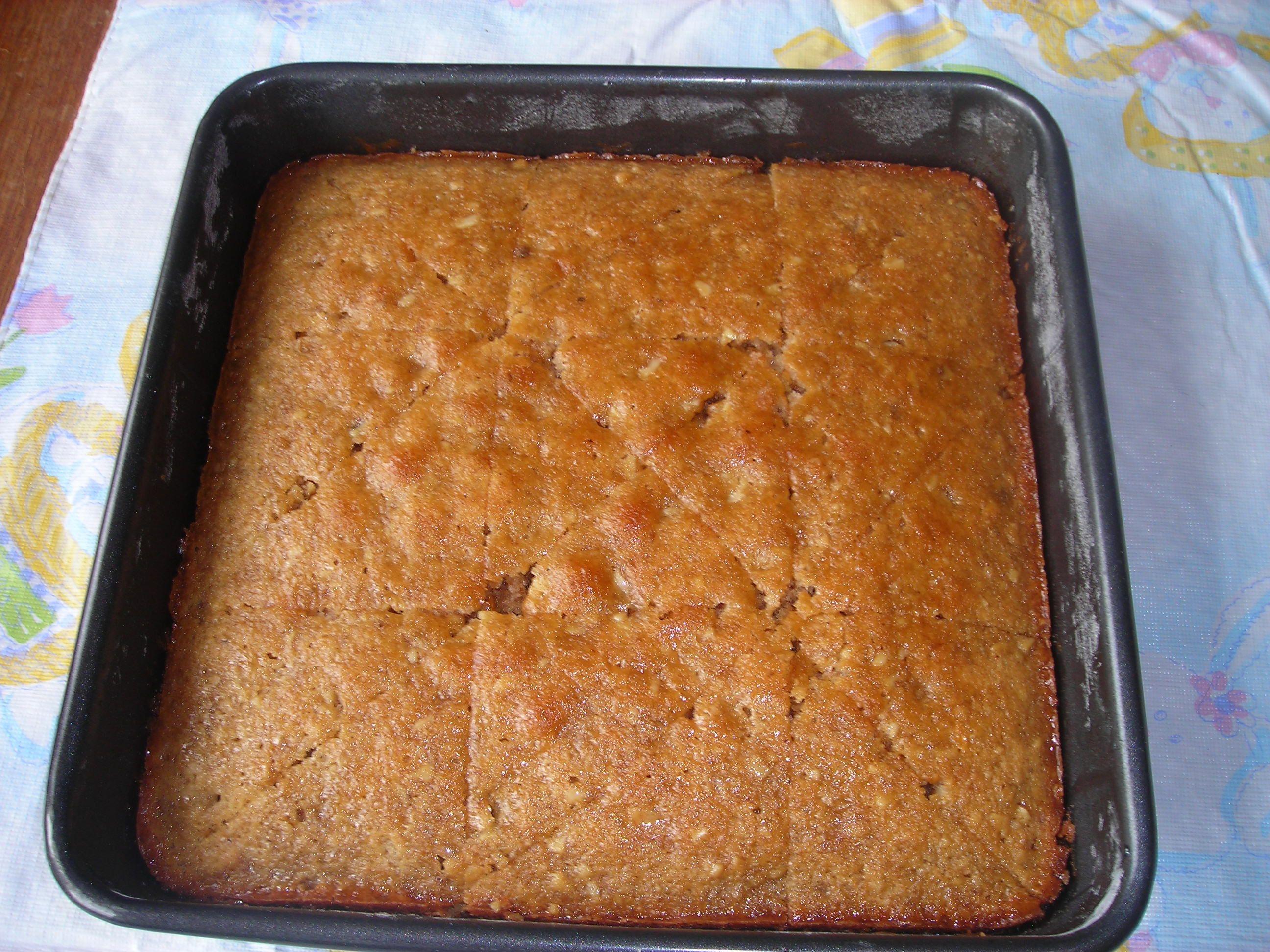 Greek Walnut and Honey Cake #honeycake