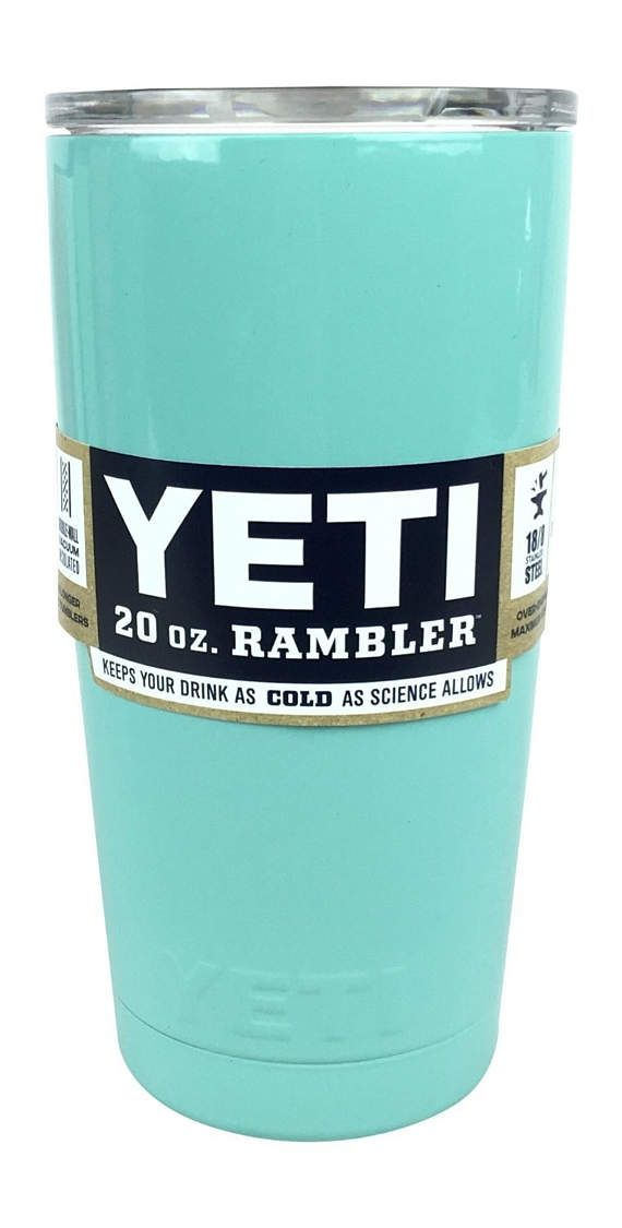 9761954577f YETI Light Blue 20 oz Rambler Tumbler Cup Mug Yeti Cup, hydrodipped yeti  20oz Small Yeti Mug Hot Pink Teal Blue