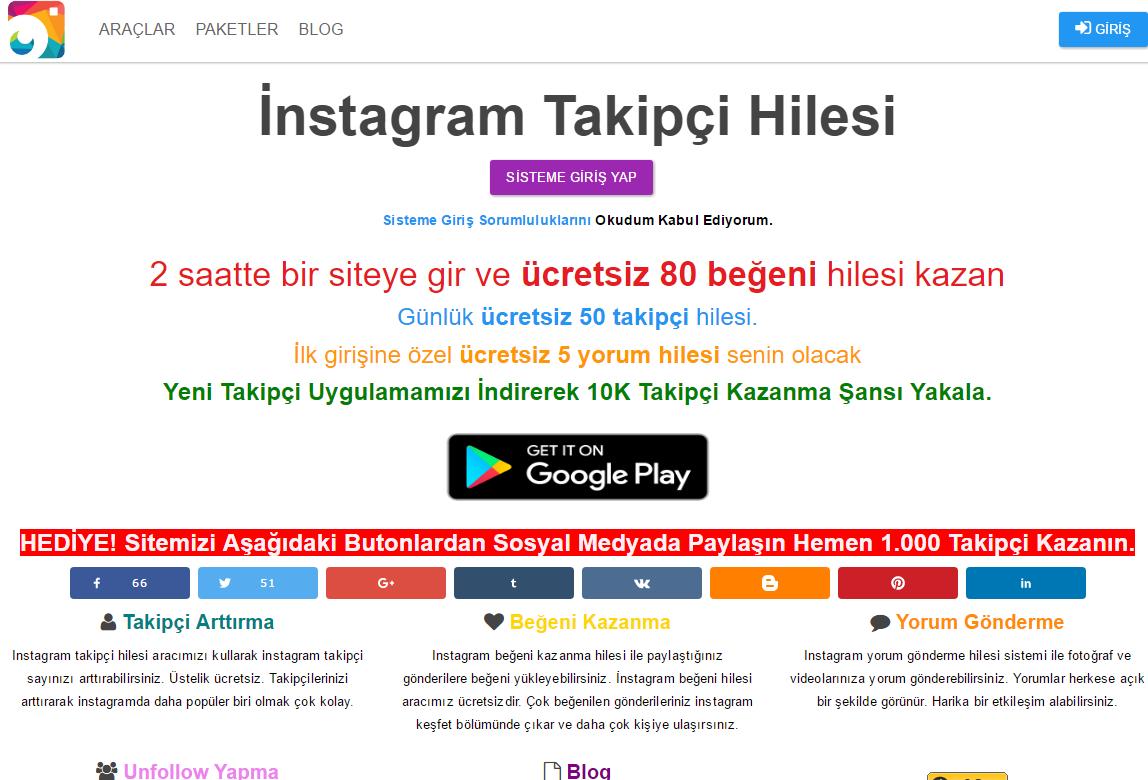 instagram 10k takipi hilesi
