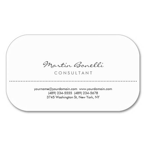 White rounded corner elegant consultant minimalist business card white rounded corner consultant business card this great business card design is available for customization reheart Images