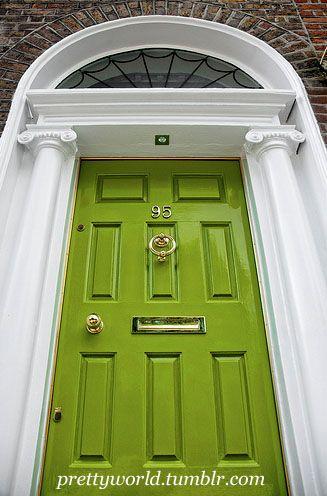 My dream front door, in chartreuse.