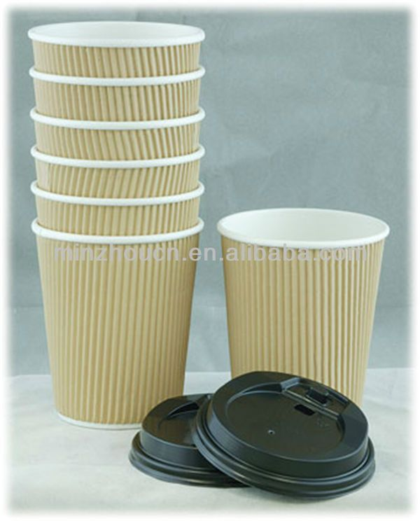 promotional recyclable corrugated 8oz wholesale paper cups