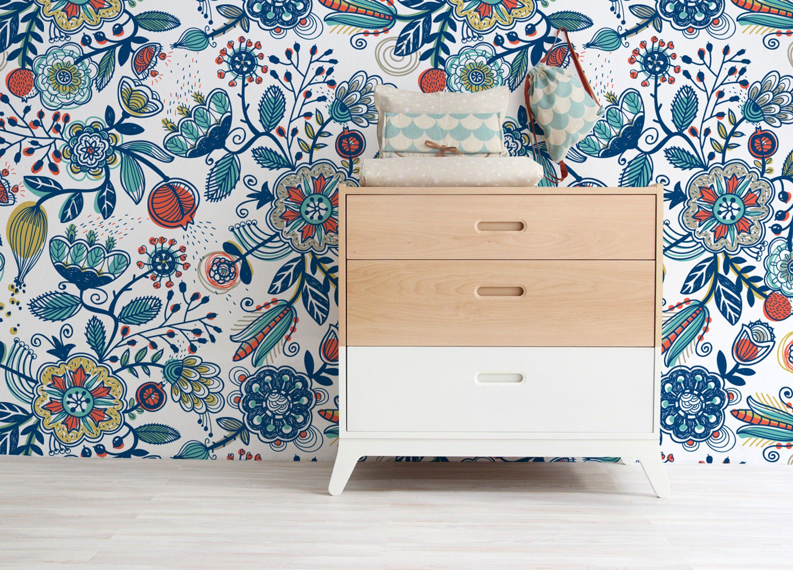 Boho Wallpaper, Boho Wall Mural, Boho Style, Peel and
