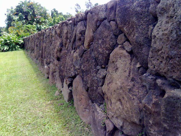 hawaii wall lava rock