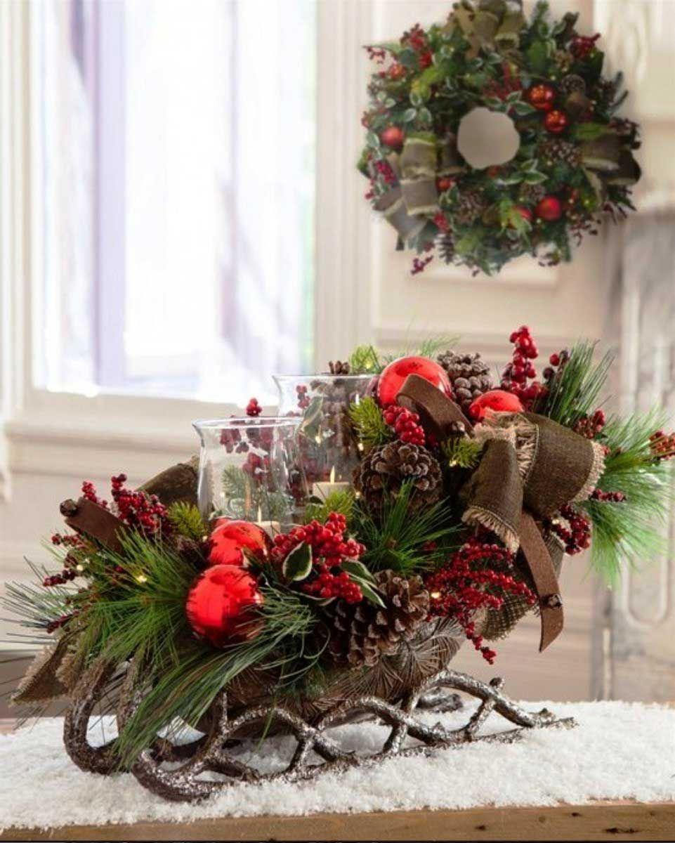 Sleigh For Christmas Decor | Christmas Decorations | Pinterest ...