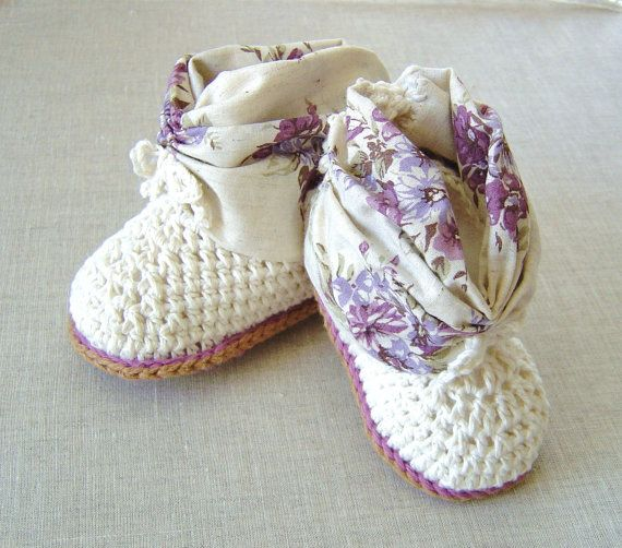 CROCHET PATTERN Baby Summer Booties easy Crochet baby shoes crochet ...