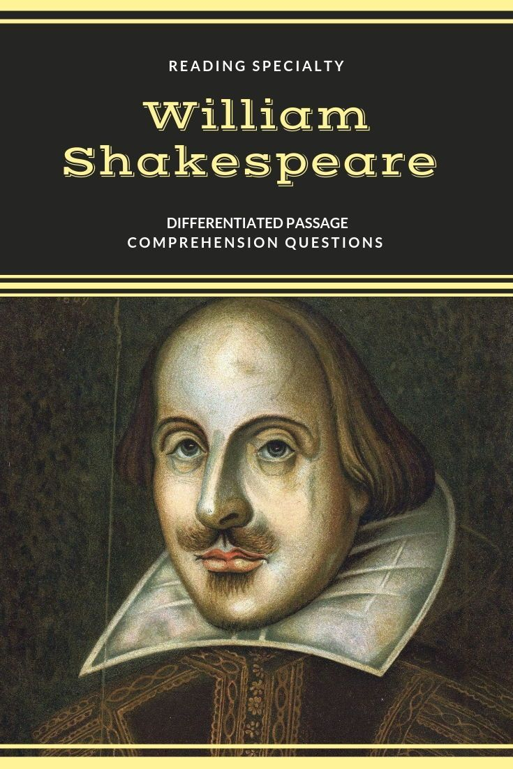April 23, 1616 William Shakespeare died. The passage