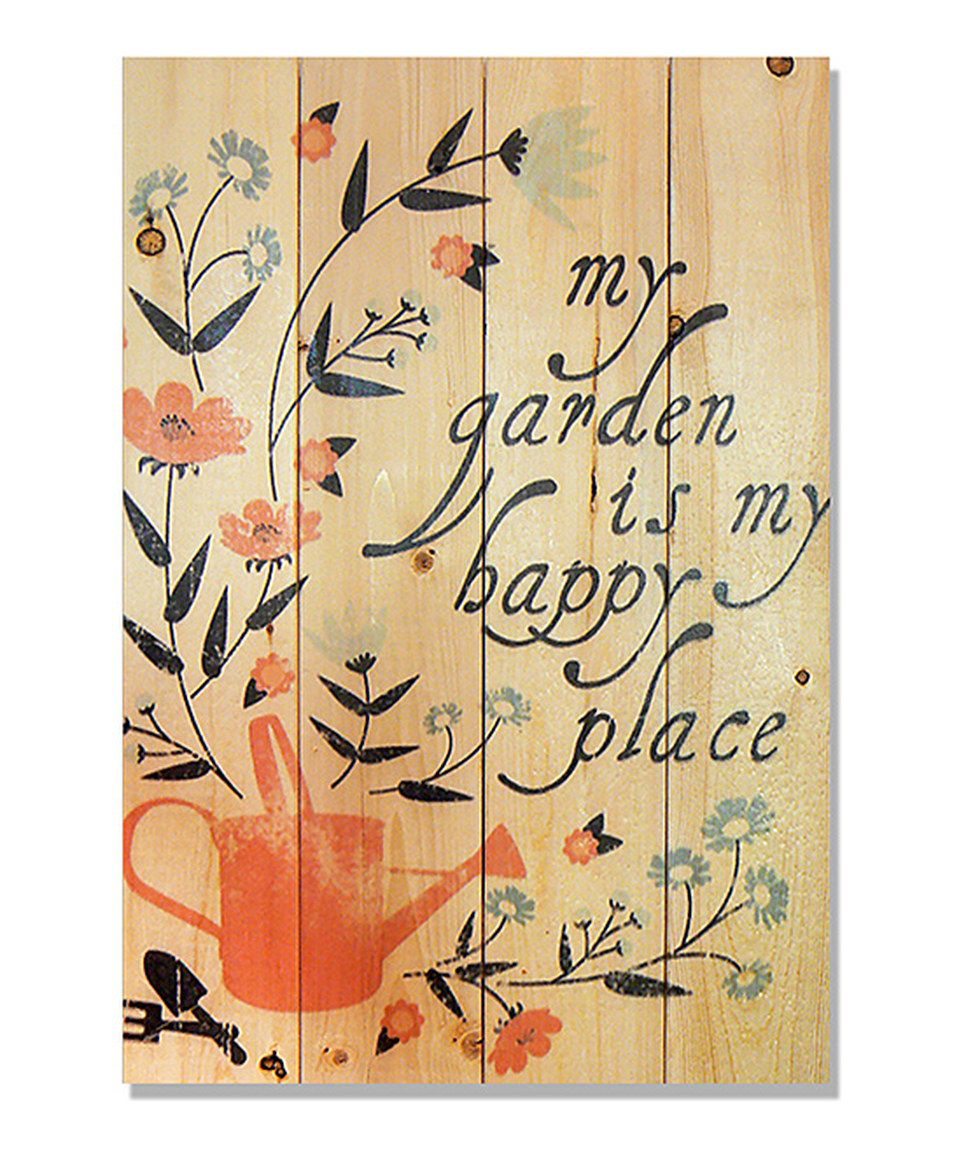 Look at this #zulilyfind! Wile E. Wood \'Happy Place\' Indoor/Outdoor ...