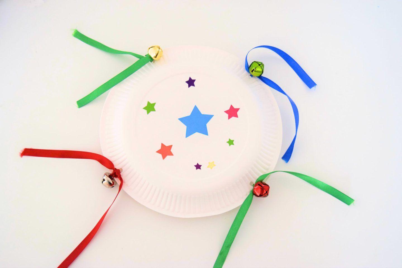 diy tambourine paper plate craft music paper plate crafts