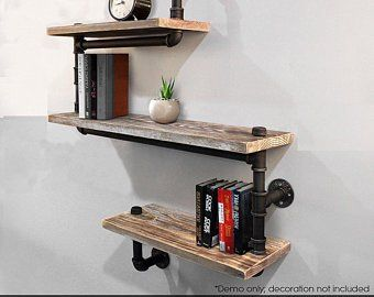 wood iron industrial shelve bar top shelve combo shelf on simple effective and easy diy shelves decorations ideas the way of appearance of any space id=95413
