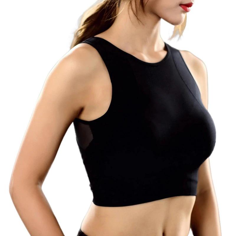 Womens Sports Yoga Gym Bra Vest Ladies Workout Running Shockproof Tank Crop Tops