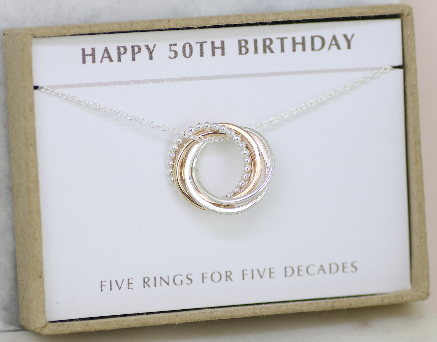 50th Birthday Gift Dainty Necklace Sister Wife Friend