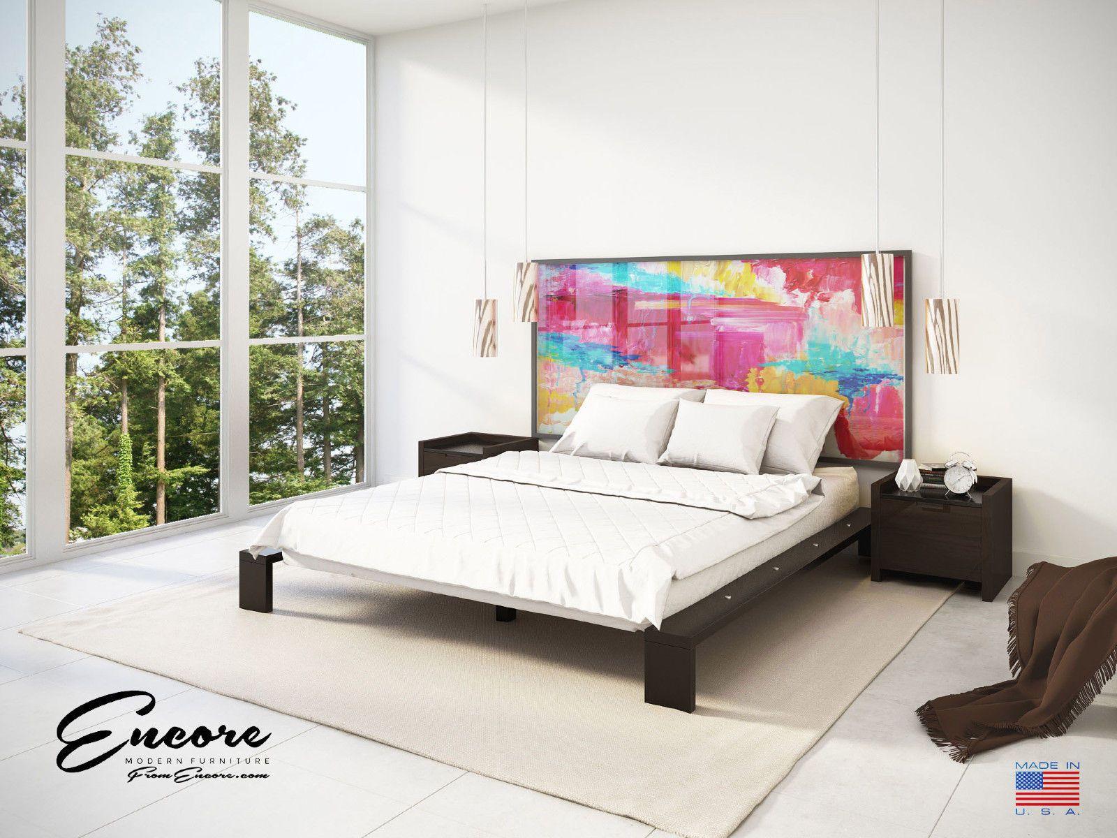 King Modern Minimalist Platform bed by Encore ...