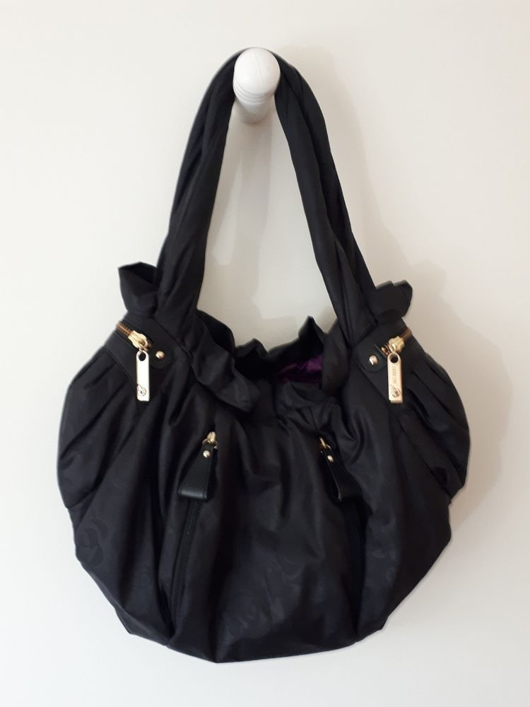 Anna Sui Boho Hobo Black Shoulder Bag Handbag