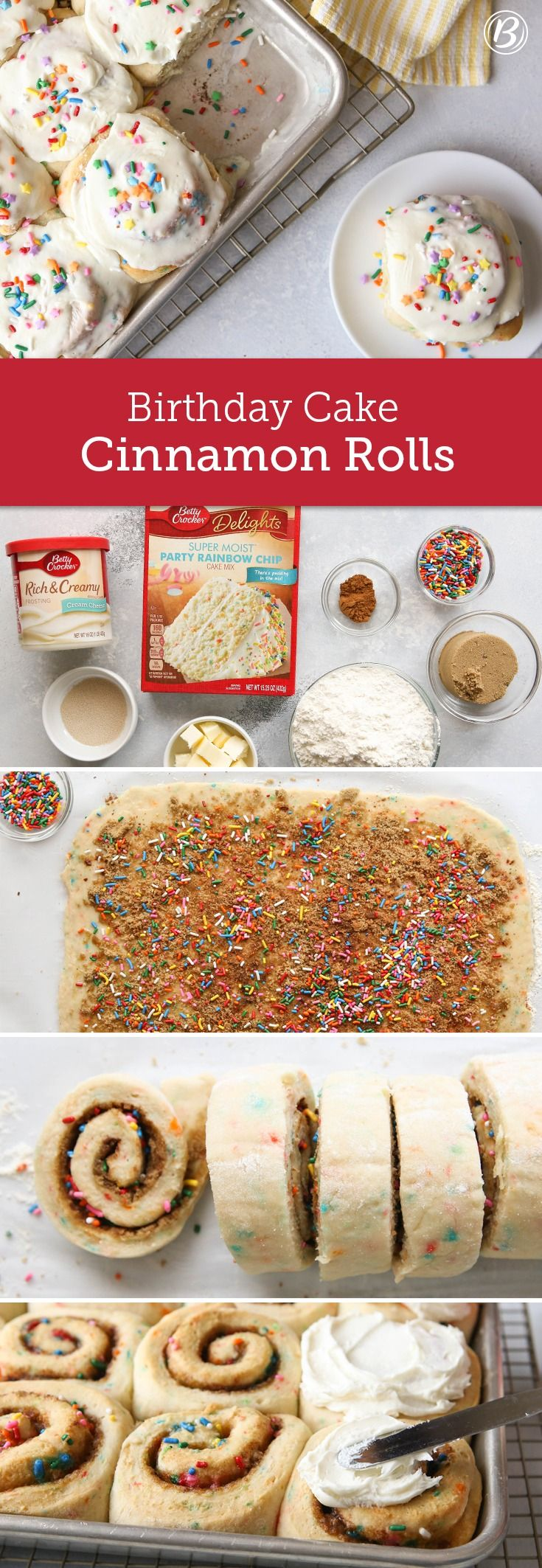 Birthday Cake Cinnamon Rolls Recipe Breakfast Brunch