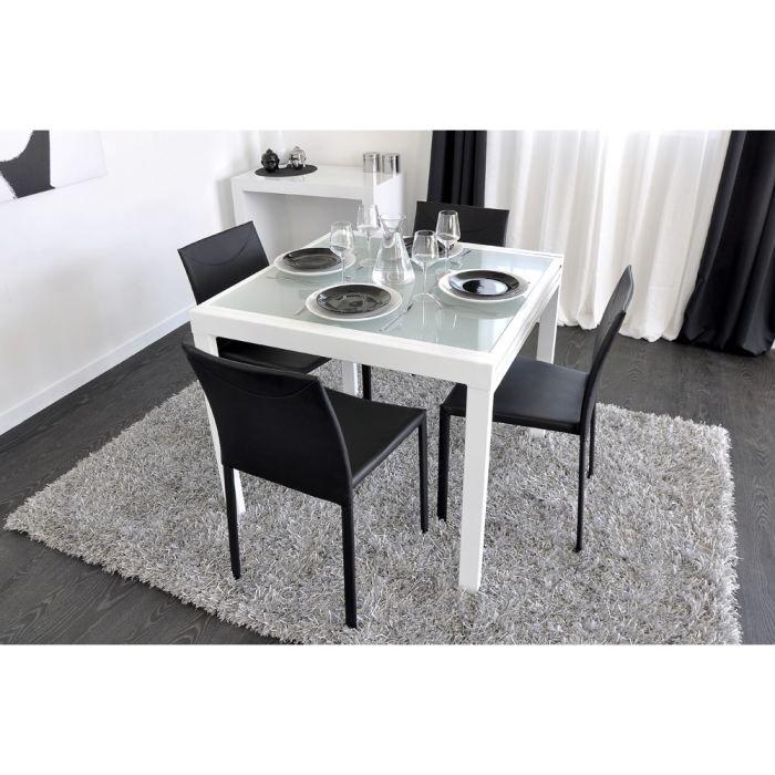 extend table extensible blanche 90/180cm