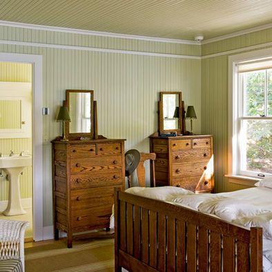 Floor To Ceiling Beadboard Beach Style Bedroom Home White Beadboard