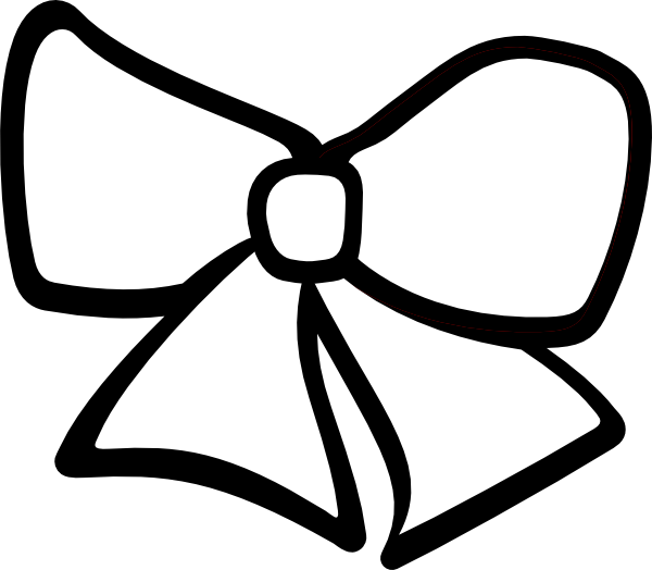 Bow hair. Clip art vector silhouette