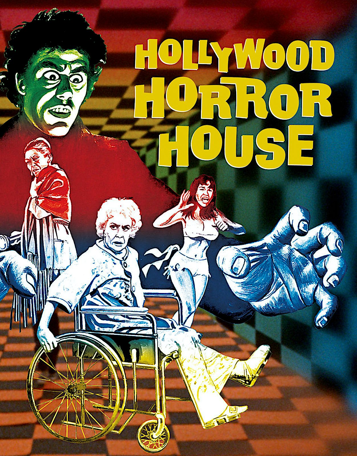 HOLLYWOOD HORROR HOUSE LIMITED EDITION BLURAY SLIPCOVER