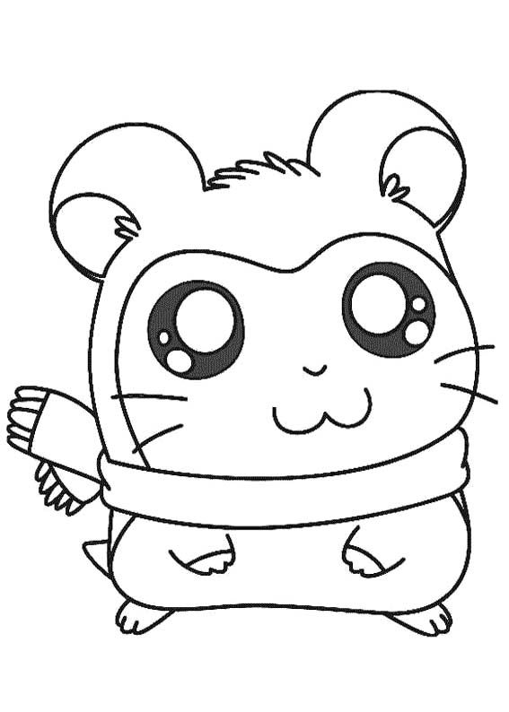 Pashmina Coloring Page Cute Cartoon Drawings