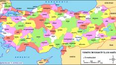Turkiye Interaktif Haritalari Haritalar Cografya Ve Boyama