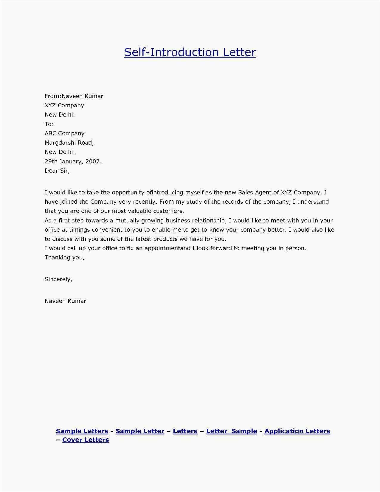 New Immigration Letter Format Introduction Letter Job Cover