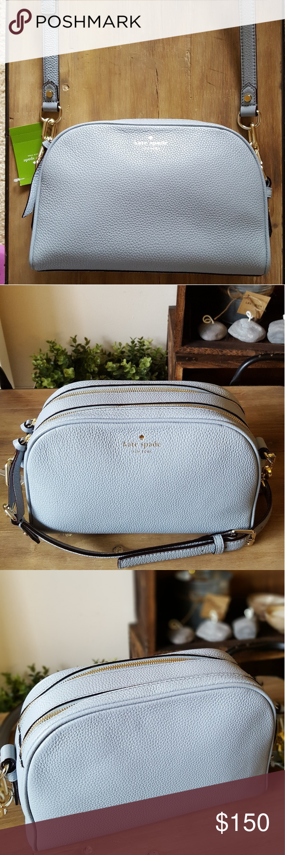Kate Spade Crossbody Brand New with Tags •pebbled leather with smooth leather split trim •capital kate jacquard lining •14-karat gold plated hardware kate spade Bags Crossbody Bags