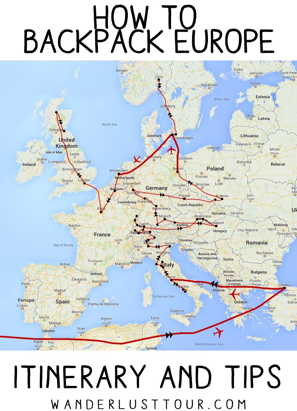 How To Backpack Europe Here is my new, updated itinerary