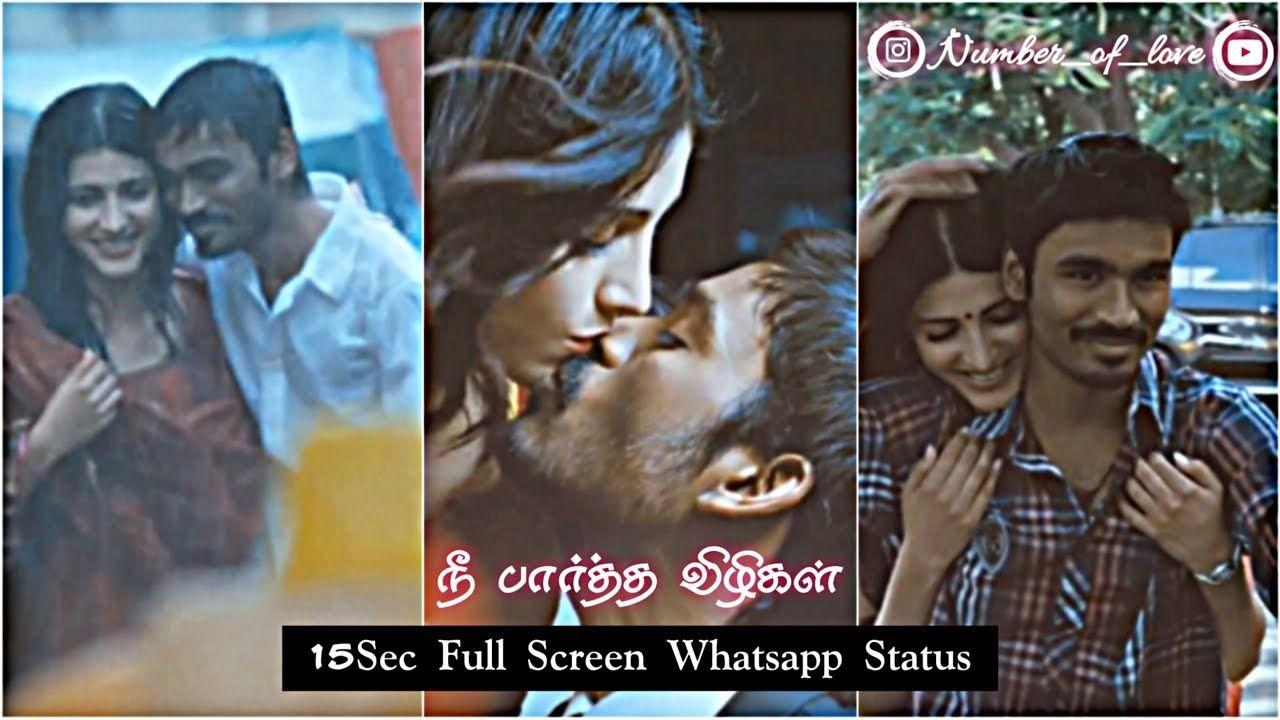 3 Moonu Nee Paartha Vizhigal Number Of Love Dhanush Shruti A Funny Whatsapp Status Love Feeling Status One Sided Love