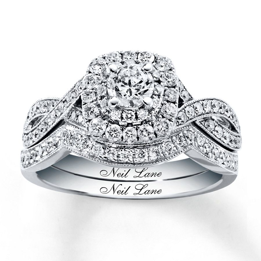 This enchanting bridal set for her from the Neil Lane Bridal