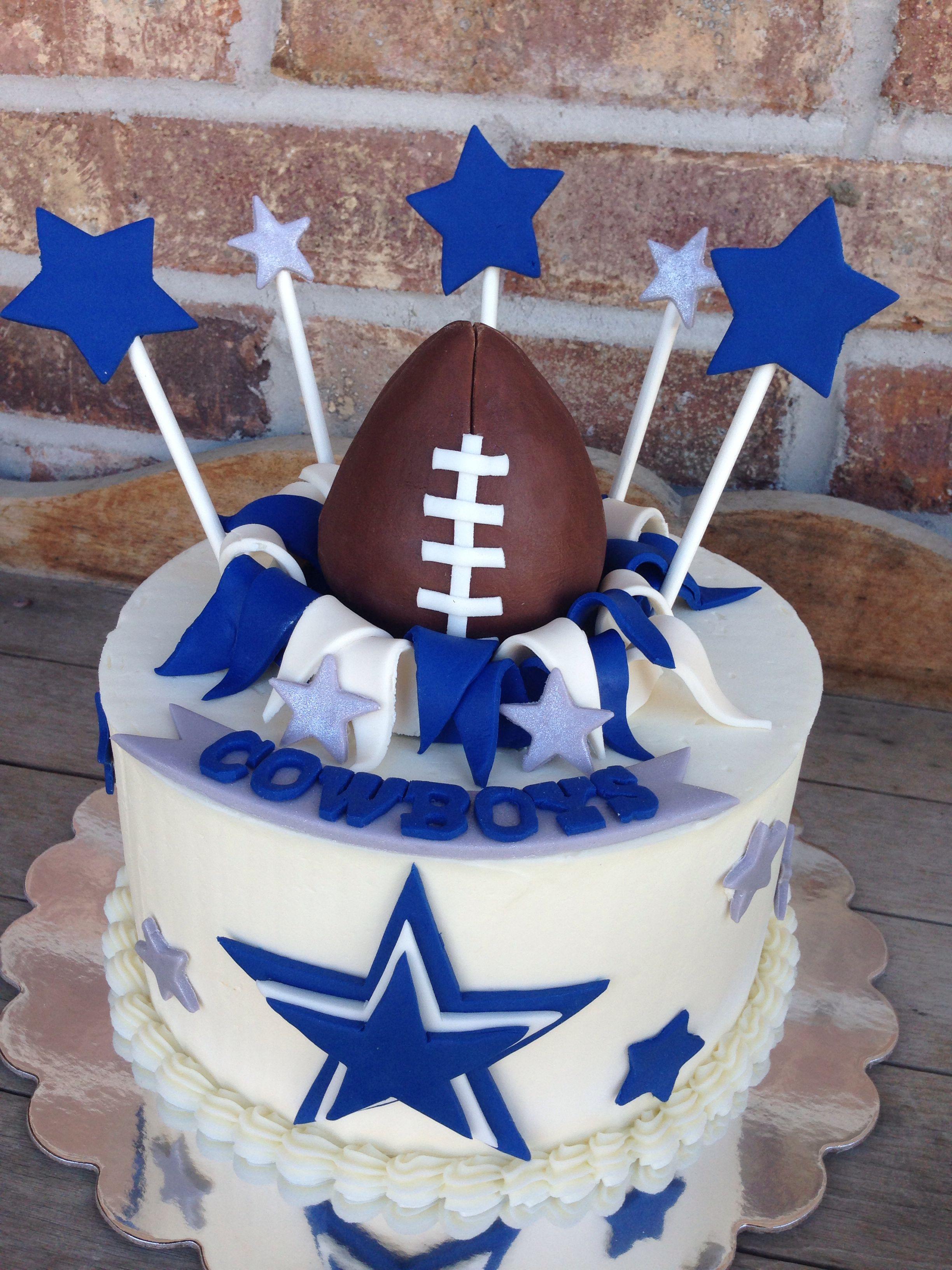 Cowboys Football Cake Sports Cakes Pinterest Cowboys