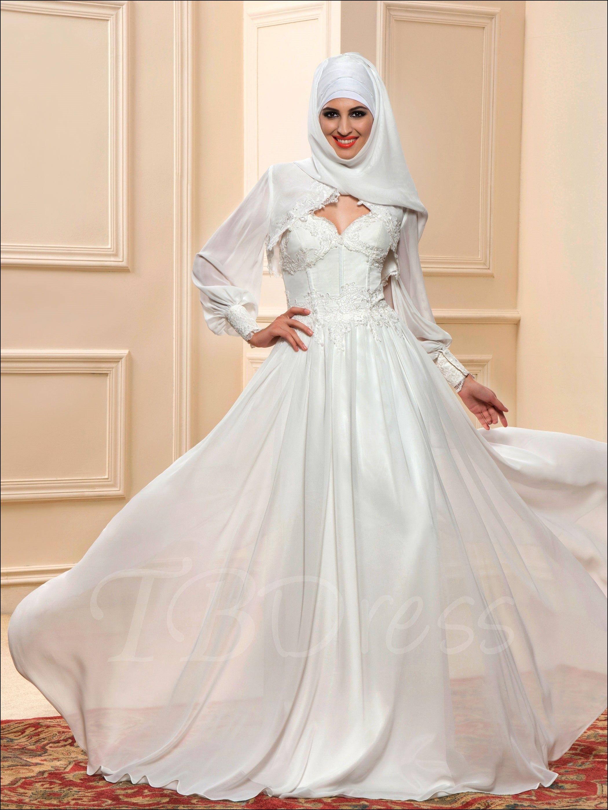 Islamic Wedding Gowns Hijab | Model pakaian hijab | Pinterest ...