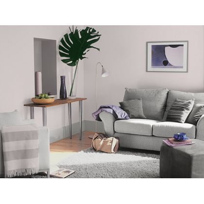 Dulux Violet White Silk Emulsion Paint 2 5l Homebase Dulux Light And Space Dulux Dulux Feature Wall