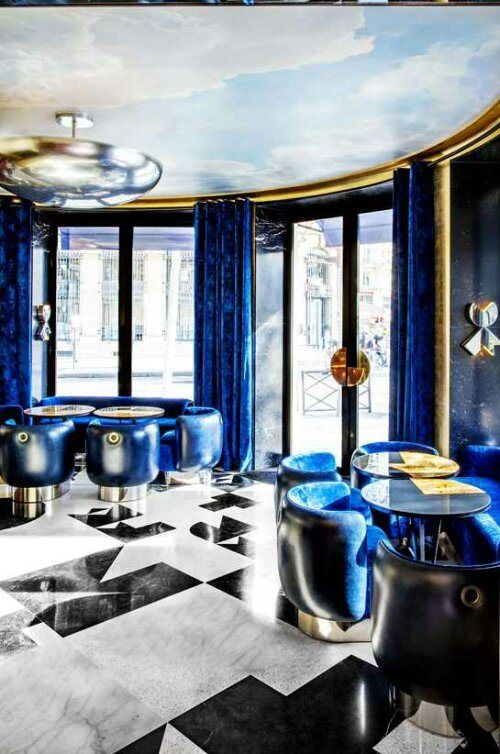 Best Cafe Interior Design Cobalt Blue Circuclar Room Sky 400 x 300