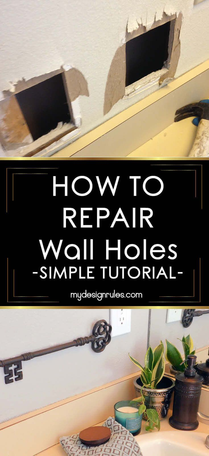 Fix Holes In Walls Like A Pro Fix Hole In Wall Patching Holes In Walls Diy Wall