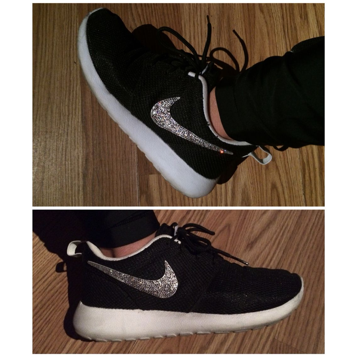 DIY rhinestoned Nike Roshe Runs! It's hard to capture the sparkle in a  photo but