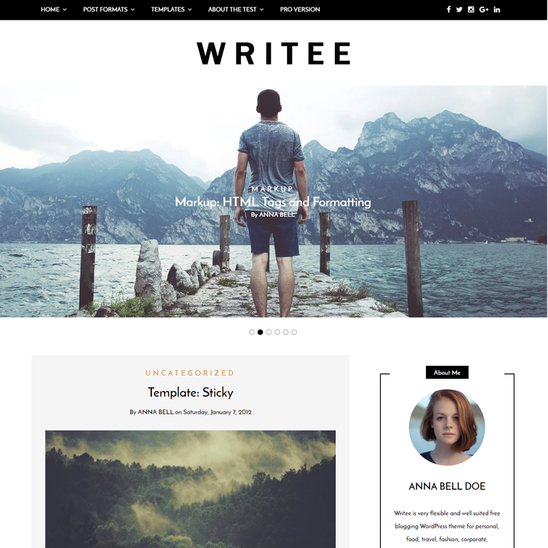 Free WordPress Blog Theme On Wordpress.org. Fullwidth And