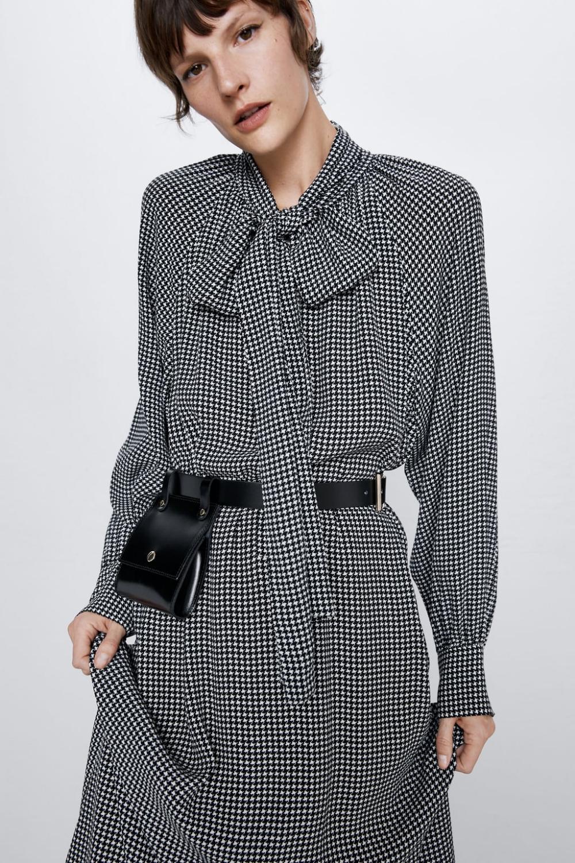kleid mit print und schleife - kleider | overalls-damen